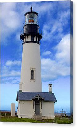 Canvas Print featuring the photograph Yaquina Head Lighthouse by Todd Kreuter