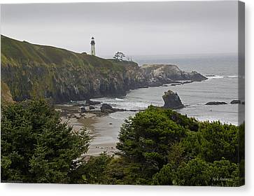 Yaquina Head Lighthouse View Canvas Print
