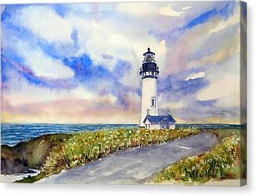 Yaquina Head Lighthouse - Springtime Canvas Print