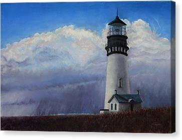 Yaquina Head Storm Canvas Print by Carl Capps