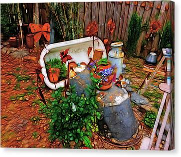 Dinner Party Invitation Canvas Print - Yard Art You'all by Tim Coleman