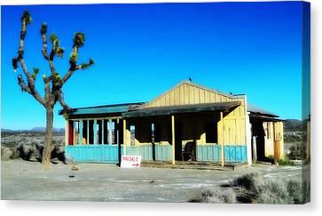 Yard Sale - El Mirage California Canvas Print by Glenn McCarthy