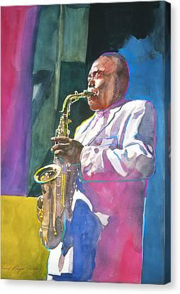 Yardbird Parker Canvas Print by David Lloyd Glover