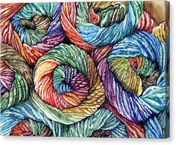 Yarn Canvas Print by Nadi Spencer