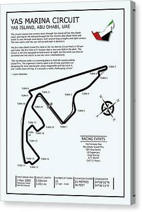 Yas Marina Circuit Canvas Print by Mark Rogan