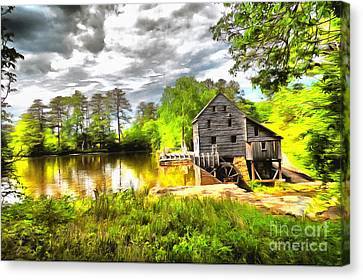 Yates Mill Raleigh Nc II Canvas Print by Mylinda Revell