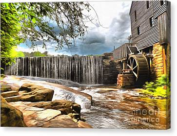 Yates Mill Raleigh Nc Canvas Print by Mylinda Revell