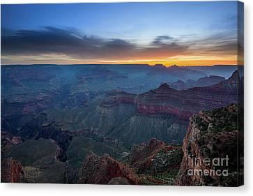 Yavapai Sunrise At The Grand Canyon Canvas Print by Jamie Pham
