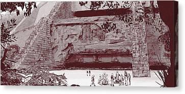 Yavin Temple Canvas Print by Kurt Ramschissel