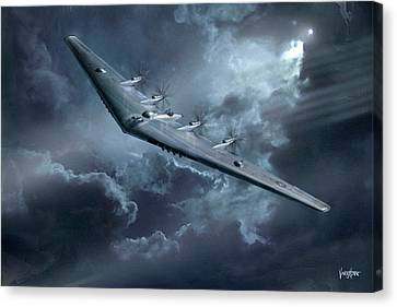 Yb-35 Flying Wing  Canvas Print