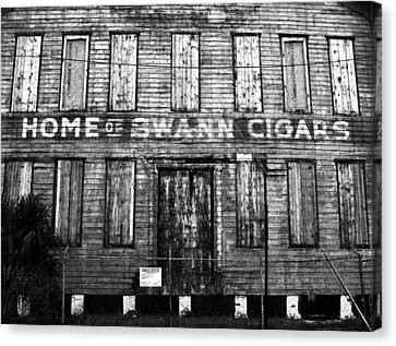 Home Of Swann Cigars Canvas Print