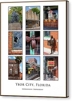 Ybor City Poster Canvas Print