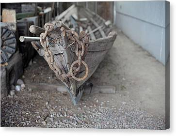 Canvas Print featuring the photograph Ye Old Fishing Boat by Fran Riley