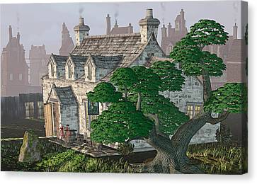 Ye Olde Pub Canvas Print by Peter J Sucy