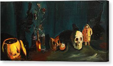 Yeah Its Halloween Canvas Print by Jane Autry