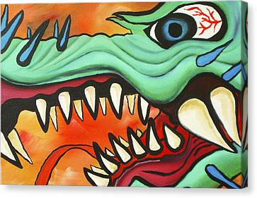 Year Of The Dragon Canvas Print by Joseph Palotas