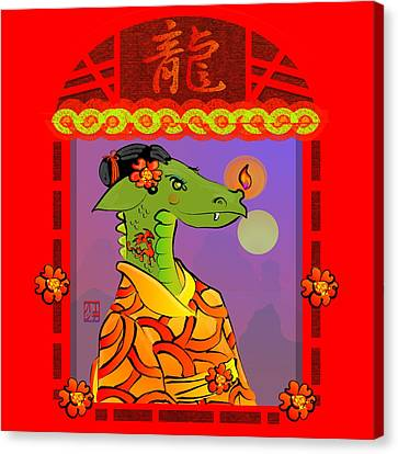 Year Of The Dragon Canvas Print by LD Gonzalez