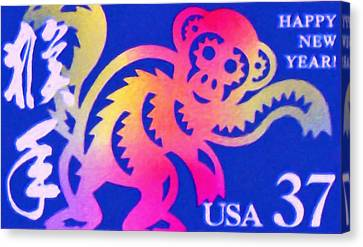 Year Of The Monkey Canvas Print - Year Of The Monkey by Lanjee Chee