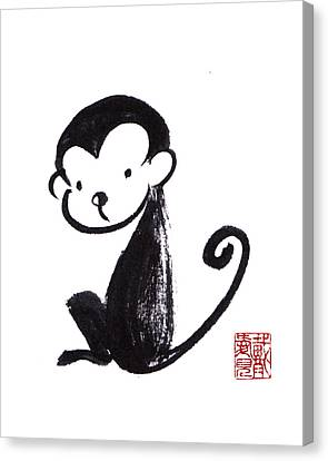 Year Of The Monkey Canvas Print - Year Of The Monkey by Oiyee At Oystudio
