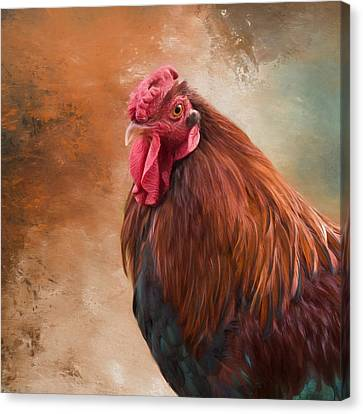 Canvas Print featuring the photograph Year Of The Rooster 2017 by Robin-Lee Vieira