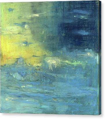 Canvas Print featuring the painting Yearning Tides by Michal Mitak Mahgerefteh