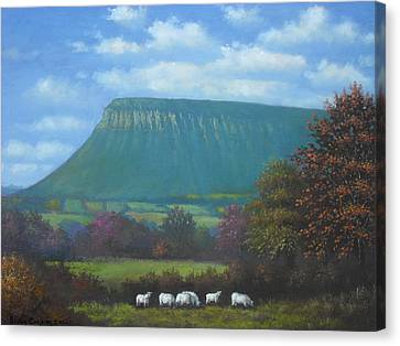 Yeats Country With Benbulben Canvas Print by Sean Conlon