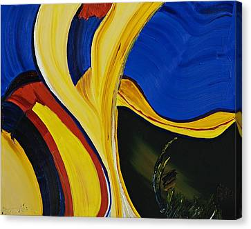 Yellow Abstract Canvas Print by Gregory Allen Page