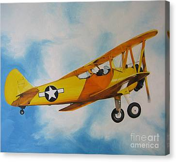 Yellow Airplane - Detail Canvas Print