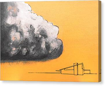 Yellow Alex Dark Cloud Canvas Print