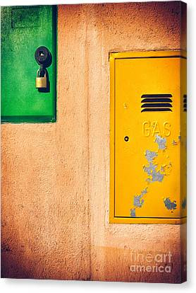 Canvas Print featuring the photograph Yellow And Green by Silvia Ganora