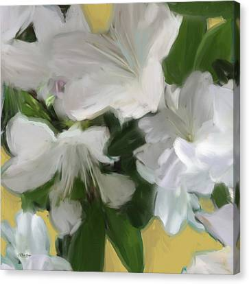 Yellow And White Flower Art 2 Canvas Print