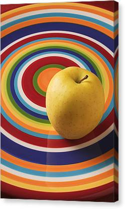 Yellow Apple  Canvas Print by Garry Gay