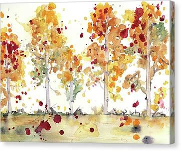 Yellow Aspens Canvas Print by Dawn Derman