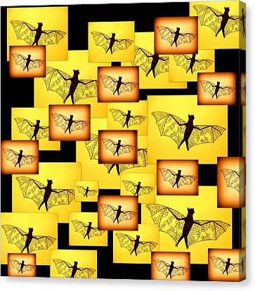 Yellow Bats Canvas Print by Cathy Jacobs
