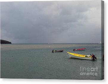 Canvas Print featuring the photograph Yellow Boat by Gary Wonning