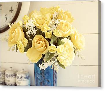 Yellow Bouquet Of Flowers Canvas Print by Juli Scalzi