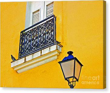 Yellow Building Canvas Print by Debbi Granruth