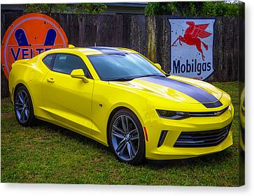 Yellow Camaro Canvas Print by Garry Gay