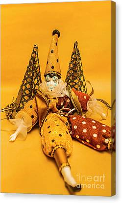 Puppets Canvas Print - Yellow Carnival Clown Doll by Jorgo Photography - Wall Art Gallery