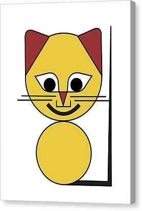 Yellow Cat Canvas Print by Asbjorn Lonvig