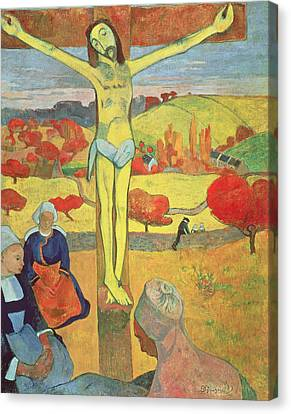Yellow Christ Canvas Print by Paul Gauguin