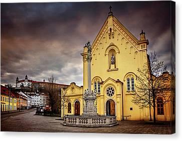 Yellow Church In Bratislava  Canvas Print by Carol Japp