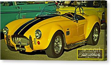 Yellow Cobra Canvas Print by Gwyn Newcombe