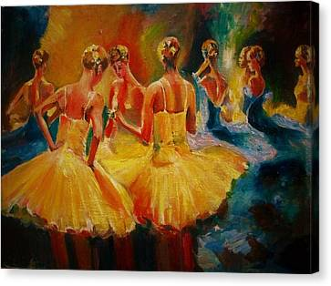 Yellow Costumes Canvas Print