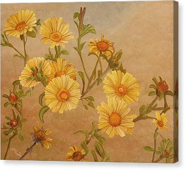 Andalucia Canvas Print - Yellow Daisies by Angeles M Pomata
