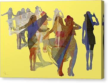 Yellow Dance Canvas Print