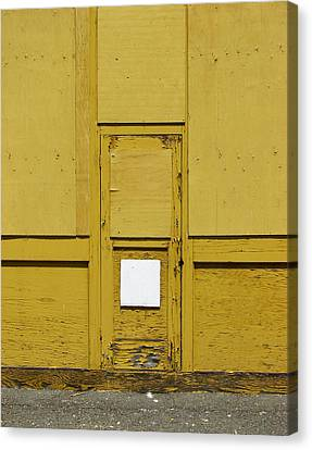 Yellow Door With Accent Canvas Print