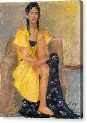 Yellow Dress Canvas Print by Rita Bentley