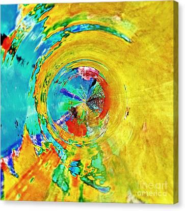 Yellow Eclipse  Canvas Print