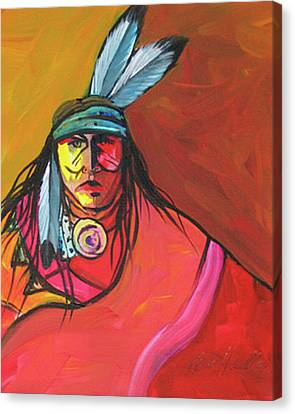 Yellow Face Canvas Print by Lance Headlee